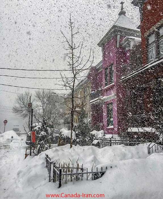 عکس از یک روز برفی زیبا اما سرد در کانادا  Canada-Iran.com برف کانادا هشدار هواشناسی کانادا هواشناسی عکس کانادا اخبار کانادا گرمایش زمین ایرانیان کانادا پیش بینی هوای کانادا برف و سرما هوا در کانادا