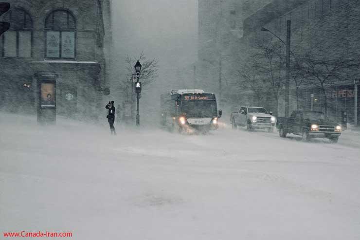 عکسهای کانادا در روز برفی و سرما و یخبندان - هشدار هواشناسی کانادا برف کانادا هشدار هواشناسی کانادا هواشناسی عکس کانادا اخبار کانادا گرمایش زمین ایرانیان کانادا پیش بینی هوای کانادا برف و سرما هوا در کانادا